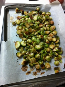 sprouts roasted first shaking